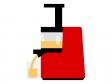 ジューサーでジュースを搾っているイラスト