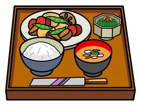 煮物の定食のイラスト02