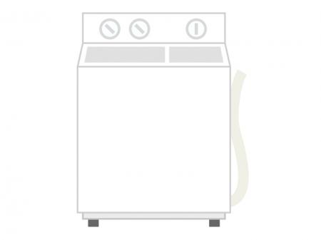 二槽式の洗濯機のイラスト