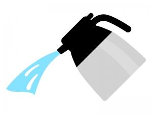 魔法瓶・ポットと水のイラスト