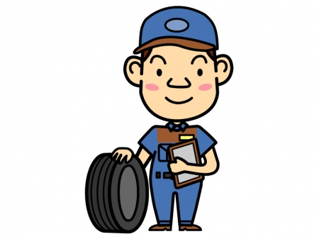 自動車の整備士のイラスト