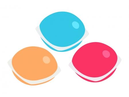 ジェルボールの洗濯用洗剤のイラスト
