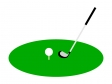 ゴルフのティーショットのイラスト