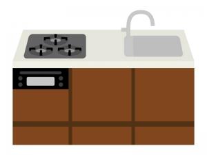 システムキッチンのイラスト