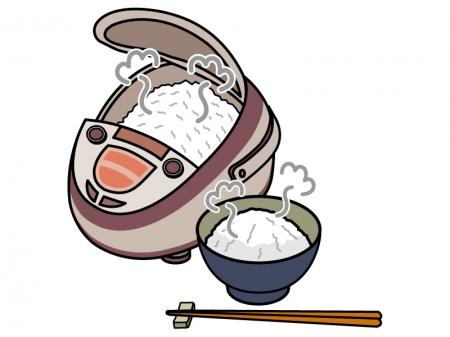 炊き立てのご飯のイラスト