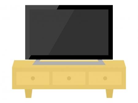 テレビとテレビボードのイラスト