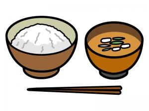 ごはんとお味噌汁のイラスト