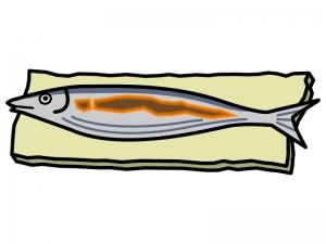 焼き魚のイラスト