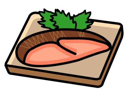 焼き魚・鮭のイラスト