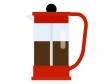 フレンチプレスコーヒーのイラスト