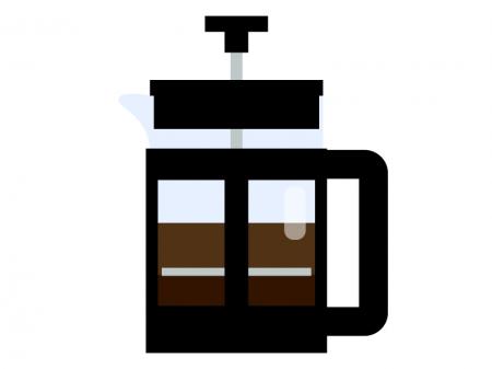 フレンチプレスコーヒーのイラスト02