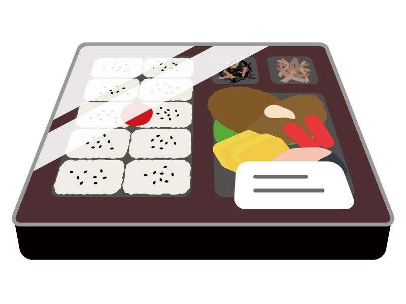 コンビニ・幕の内弁当のイラスト