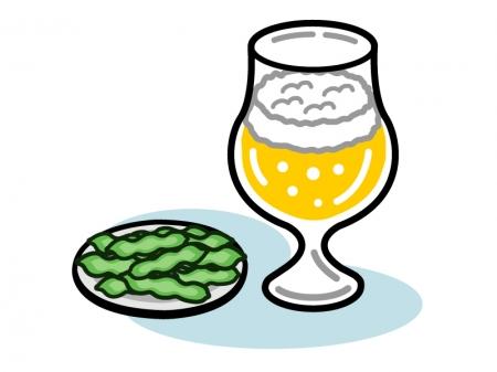 ビールと枝豆のイラスト | イラスト無料・かわいいテンプレート