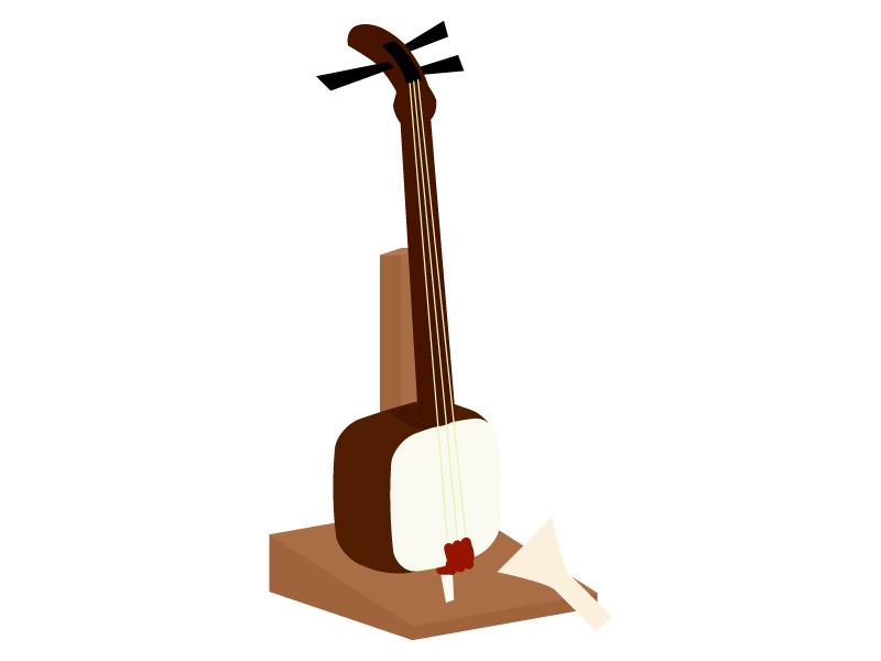 楽器・三味線のイラスト