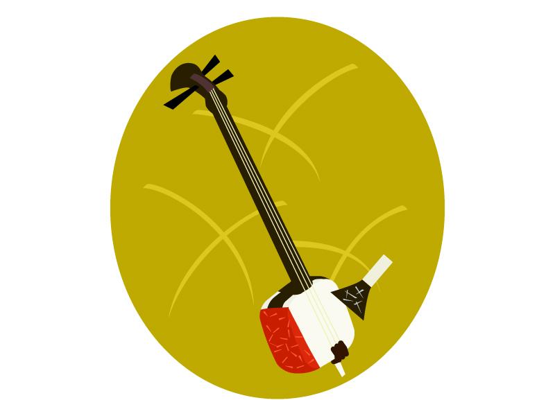 楽器・三味線のイラスト03