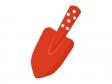 赤い園芸スコップ(シャベル)のイラスト