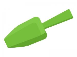 緑の園芸スコップ(シャベル)のイラスト