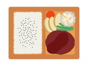 ハンバーグ弁当のイラスト
