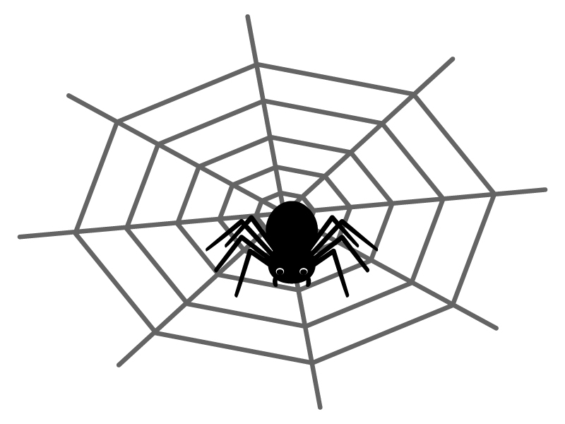 蜘蛛と蜘蛛の巣のイラスト