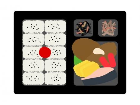 幕の内弁当のイラスト02