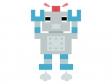 飛んでいるロボットのイラスト