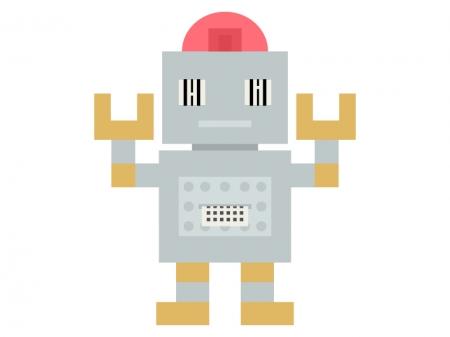 計算しているロボットのイラスト