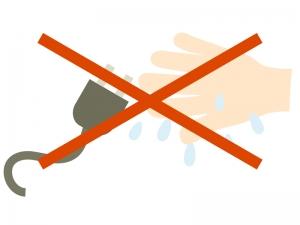 「濡れた手では触らない」のイラスト02