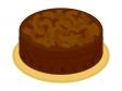 チョコレートケーキ(ホール)のイラスト