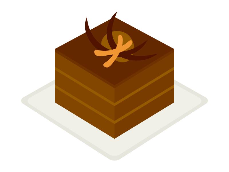 チョコレートケーキのイラスト02