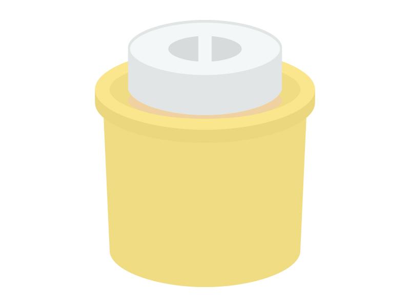 重石の乗った漬物容器のイラスト