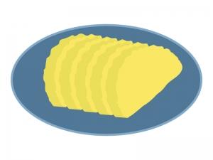 たくあんの漬物のイラスト