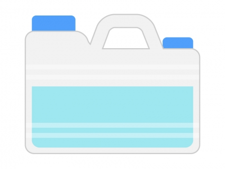 水のポリタンクのイラスト