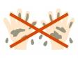 「汚れた手では触らない」のイラスト