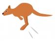 ジャンプするカンガルーのイラスト