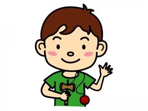 けん玉で遊ぶ子どものイラスト