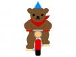 サーカス・自転車に乗るクマのイラスト