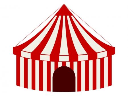 サーカスのテントのイラスト