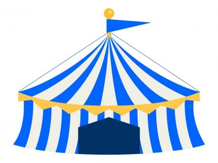 サーカスのテントのイラスト03