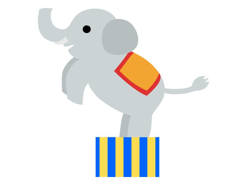 サーカス・芸をする象のイラスト