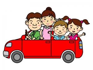 家族でドライブのイラスト02