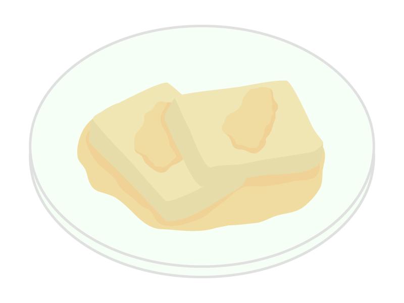 安倍川餅・きなこ餅のイラスト