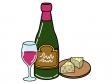 ワインとチーズのイラスト02
