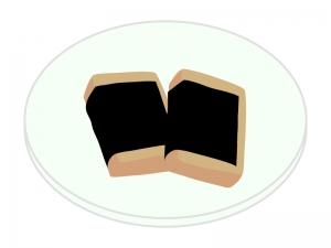 お餅・磯辺焼きのイラスト