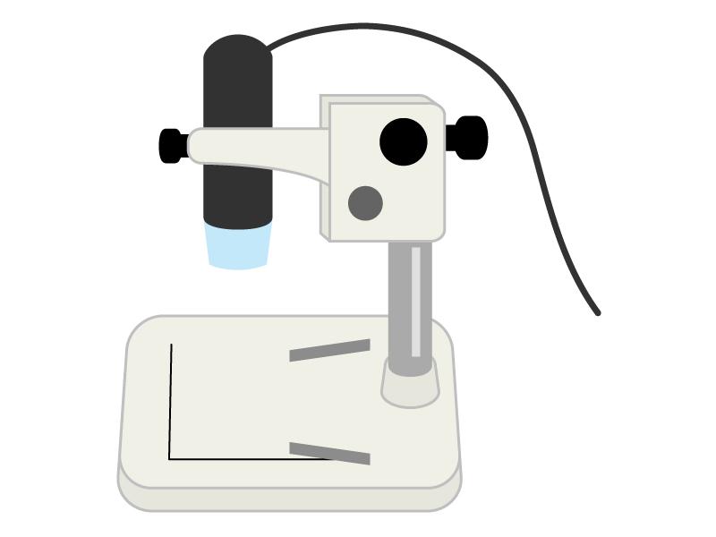 顕微鏡のイラスト03