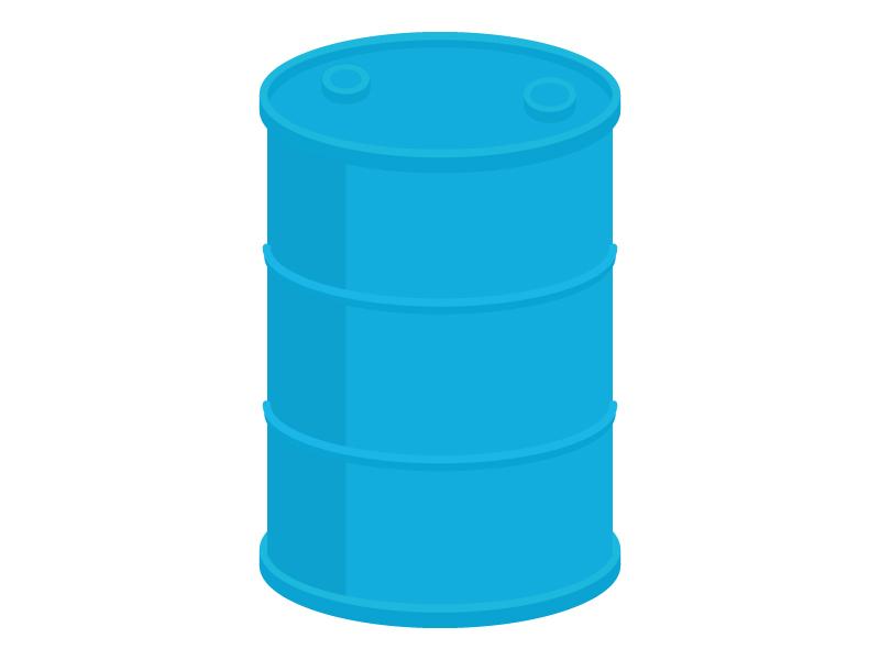 青いドラムの缶イラスト