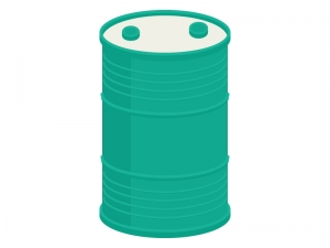 緑のドラムの缶イラスト
