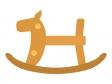 木馬のおもちゃのイラスト