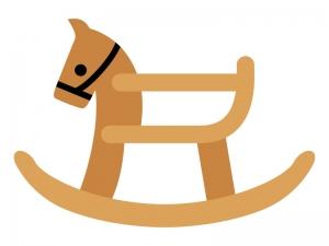 木馬のおもちゃのイラスト02