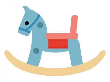 木馬のおもちゃのイラスト03