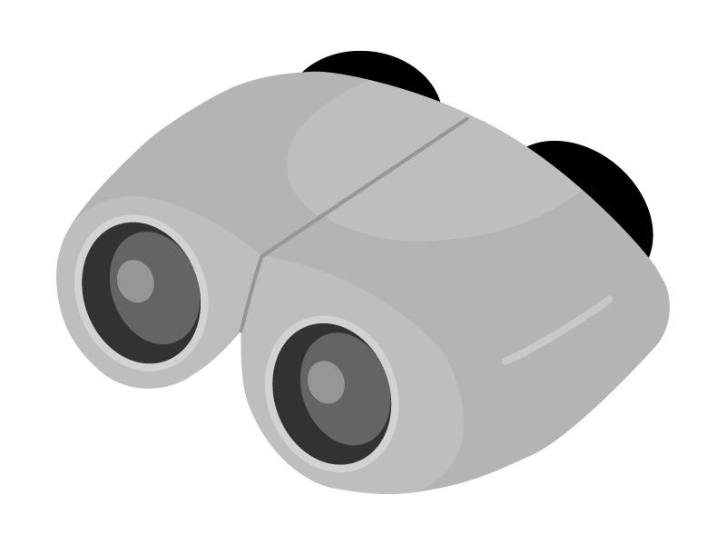 コンパクトな双眼鏡のイラスト